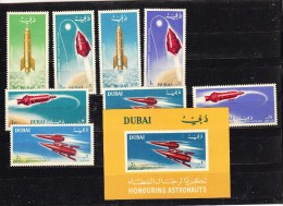 Dubai 1964 Space 8v + M/s ** Mnh (17245) - Space