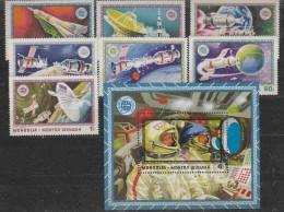 Mongolia 1975 Space 7v + M/s ** Mnh (17248) - Asia