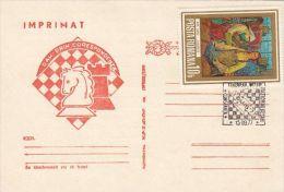 CHESS, ECHECS, CHESS BY CORRESPONDENCE, SPECIAL POSTCARD, 1977, ROMANIA - Schaken