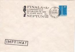 CHESS, ECHECS, NEPTUN TOURNAMENT, SPECIAL POSTMARK ON COVER, 1980, ROMANIA - Schaken