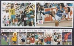Uganda 1994 Football World Cup USA  8v + 2 M/s ** Mnh (17250) - World Cup