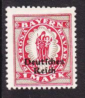 Bavaria, Scott #266, Mint Hinged, German Stamp Overprinted, Issued 1920 - Bavaria