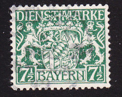 Bavaria, Scott #O9, Used, Coat Of Arms, Issued 1917 - Bavaria