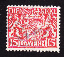 Bavaria, Scott #O12, Used, Coat Of Arms, Issued 1917 - Bavière