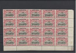BLOC DE 20 TIMBRES NEUFS**/* DU N�YT 77/78 (RWANDA ET BURUNDI) - 1925 - COTE COB 2008: 15.00�