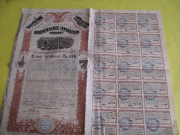 USA/ State Of Wyoming/ Independence Irrigation Company/Hypothéque Six Pour Cent Or Obligation/1912     ACT85 - Agriculture