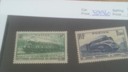 LOT 224666 TIMBRE DE FRANCE NEUF** N�339/340 VALEUR 18,7 EUROS