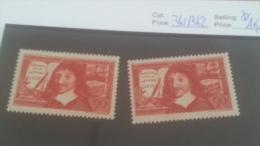 LOT 224667 TIMBRE DE FRANCE NEUF** N�341/342 VALEUR 16,3 EUROS