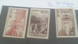 LOT 224670 TIMBRE DE FRANCE NEUF** N�345 A 347