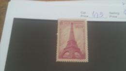 LOT 224691 TIMBRE DE FRANCE NEUF** N�429 VALEUR 17 EUROS