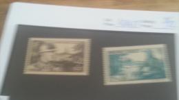 LOT 224696 TIMBRE DE FRANCE NEUF** N�451/452 VALEUR 12 EUROS