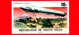 ALTO VOLTA - Usato - 1976 - 75° Anniversario Del Dirigibile Zeppelin - Airship Deutschland - 10
