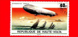 ALTO VOLTA - Usato - 1976 - 75° Anniversario Del Dirigibile Zeppelin - Airship Viktoria Luise - 40 - Upper Volta (1958-1984)