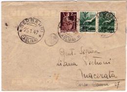 Busta Viaggiata Da Serbariu A Macerata Il 25.01.1947 - 1946-60: Marcophilia