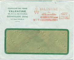 ENVELOPPE COMMERCIALE 1955 PEINTURE VALENTINE AVEC EMA - Marcophilie (Lettres)