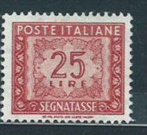 Italia 1955 Nuovo** - Segnatasse Stelle £ 25 St.2 - 6. 1946-.. Repubblica
