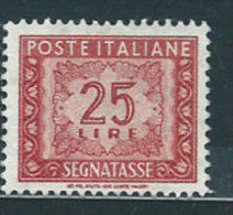 Italia 1955 Nuovo** - Segnatasse Stelle £ 25 St.2 - Segnatasse