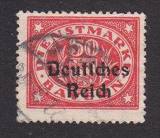 Bavaria, Scott #O58, Used, Number Overprinted, Issued 1920 - Bavaria