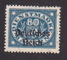 Bavaria, Scott #O62, Used, Number Overprinted, Issued 1920 - Bavaria