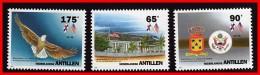 NETH.ANTILLES 1993 USA CONSULATE SC#704-06 MNH BIRDS, EAGLE, FLAGS, ARMS (D06) - Birds