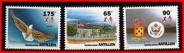 NETH.ANTILLES 1993 USA CONSULATE SC#704-06 MNH BIRDS, EAGLE, FLAGS, ARMS (D06) - Curacao, Netherlands Antilles, Aruba