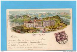 RIGI-KULM-- SUPERBE Illustration De L'hotel Et Des Montagnes-A Voyagé En 1901-édition Mulle &Trüb - TI Tessin