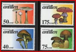 NETH.ANTILLES 1997 WILD MUSHROOMS SC#780-83 MNH FOREST PLANTS (D04) - Altri