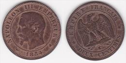 2 CENTIMES NAPOLEON III TETE NUE 1854 K TTB (voir Scan) - B. 2 Centesimi