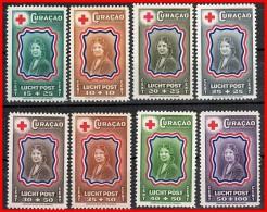 NETH.ANTILLES 1944 PRINCESS & RED CROSS SC#CB13-20 MNH CV$14.30 (D04) - Curacao, Netherlands Antilles, Aruba