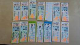 14 pcs tickets from Czech Republic Ostrava