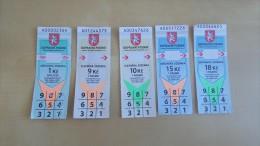 5 pcs tickets from Czech Republic Hradec Kr�lov�