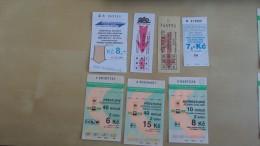 223 pcs tickets from Czech Republic various cities