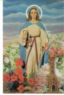 POSTAL   R - 350  SANTA BARBARA  ( 3D ) - Cristianismo