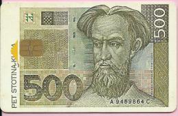 PHONECARD - Croatian Money - 500 Kuna, 500 Imp., Croatia - Kroatien
