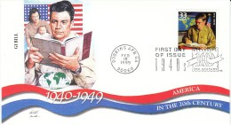 Sc#3186i 33-cent Stamp 'GI Bill' Soldiers Return To School, Celebrate The Century 1940s, 1999 FDC - 1991-2000