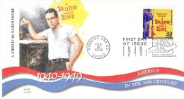 Sc#3186n 33-cent Stamp 'A Streetcar Named Desire' Play, Marlon Brando, Celebrate The Century 1940s, 1999 FDC - 1991-2000