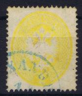 Austria Lombardo Veneto 1863 Nr 14 Blau Entwertung Ferchenbauer Cat Value € 950 - Lombardo-Venetien