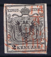 Österreich  Mi Nr 2  IIused 1850, Rot Entwertung Ferchenbauer Cat Value €  575 - Gebraucht
