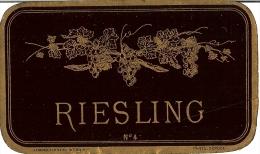 Vin D´Alsace - RIESLING - étiquette Ancienne (Haberer Plouviez & Douin N°4)         /E248 - Blancs