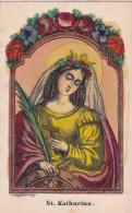 SANTIN0 SANTA CATERINA   INCISIONE ACQUARELLATA      CM12X7,5       -2-  0882-21731 - Images Religieuses
