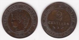 2 CENTIMES CERES 1886 A  (voir Scan) - Francia