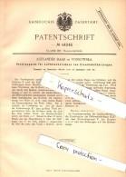 Original Patent - A. Baar In Vossowska / Fosowskie B. Colonnowska ,1887, Luftdruckbremse Für Eisenbahn , Kolonowskie !! - Documents Historiques