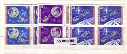Bulgaria / Bulgarie 1975 American-Soviet Space / Apollo-Soyuz 3v.-MNH  Block Of Four - Space