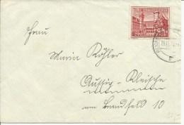 1939  Winterhilfswerk Als EF Auf Brief Von Reichenberg - Cartas