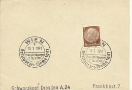 1941   Wien   Sonderstempel Franz Grillparzer - Machine Stamps (ATM)