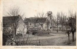 CPA  -   OSLY  COURTIL   (02)  L' Eglise Et Place Des Etats Unis - Non Classés
