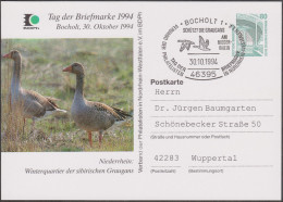 Allemagne 1994. Privatganzsache, Entier Postal Timbré Sur Commande. Protection De La Nature. Oies - Oies
