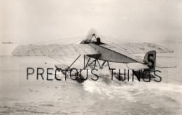 AVIATION PHOTO.14X9 CMS.HYDRAVION.LE MORANE SAULNIER DE GARROS GAGNANT RALLYE MONACO  1914 . SAFARA N° 607 .TEXTE AU DOS - ....-1914: Précurseurs