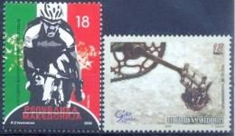 MK 2009-515-6 100A°GIRO D´ITALIA, MACEDONIA, 1 X 2v, MNH - Macedonië