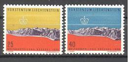 Liechtenstein: Yvert Entre  N°331/2*; MLH; Cote 3.50€;  PETIT PRIX; Voir Le Scan! - Liechtenstein